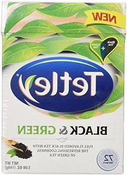 Tetley Tea Bags, Black and Green, 72 Count )