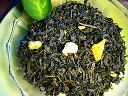Tea Citrus Lemon Orange Green Loose Leaf Premium Asian Green