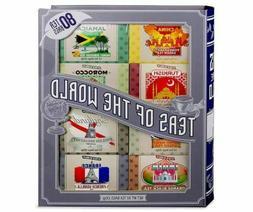 Teas Of The World Tea Gift Set Sampler; 80 Bags Total, 8 Fla