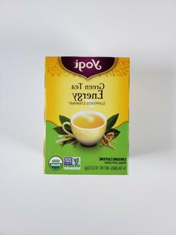 YOGI TEA GREEN TEA ENERGY  {FOUR BOXES!}  64 BAGS
