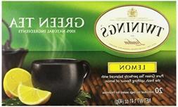 TWININGS TEA, TEA,GREEN,LEMON 20 BAG