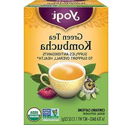 Yogi Tea - Green Tea Kombucha 6 Pack - Supplies Antioxidants