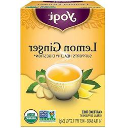 6 Pack Yogi Tea Lemon Ginger Tea Bags 16 ea.