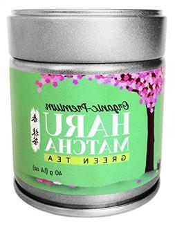 HARU MATCHA - 40g Tin  Japanese Organic Premium Ceremonial G