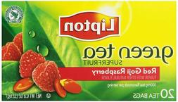 Lipton Tea Red Goji With Raspberry Green Tea, 20-count