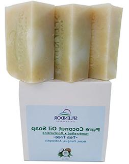 Tea Tree  Pure Coconut Oil Soap with ORGANIC SPIRULINA. Hand