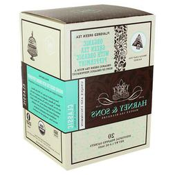 Harney and Sons Tea - Organic Green Tea with Peppemint - 20