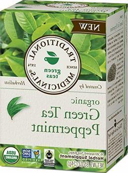Traditional Medicinals Organic Green Tea Peppermint, 16 Tea