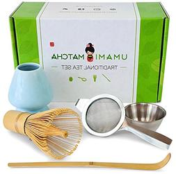 UMAMI MATCHA Traditional Tea Set   Bamboo Matcha Whisk & Sco