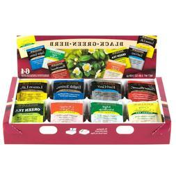 Tea Tray Pack, 8 Assorted Teas, 64 per Box