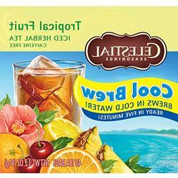 Celestial Seasonings Iced Tea, Tropical Fruit Cool Brew, 40