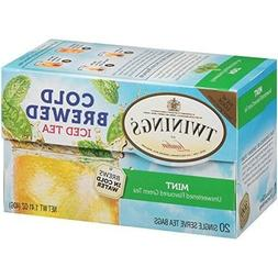 """TWININGS MINT GREEN COLD BREWED ICED TEA"""" 1 PACK 20 TEABAGS,"""