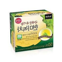 NEW USDA Certified Organic Brown Rice Green Tea 50 Tea Bags