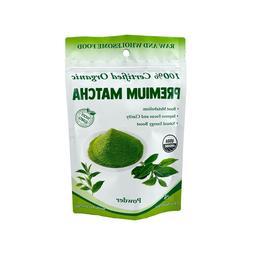 USDA Certified Organic Matcha Green Tea Powder, 4 oz Bag