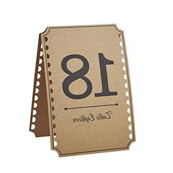 Ginger Ray Vintage Affair Kraft Wedding Party Table Numbers