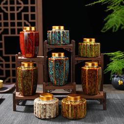 Vintage Chinese <font><b>Tea</b></font> Caddies Handprinted