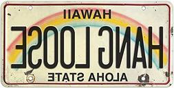 6in x 12in Vintage Hawaiian Embossed License Plate - Hang Lo