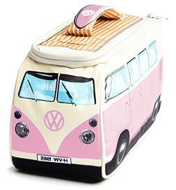 VW Volkswagen T1 Camper Van Lunch Bag - Pink - Multiple Colo