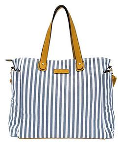 White Elm Weekender Bag - Lux Edition - Gray Stripes - Large