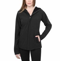 Kirkland Signature Womens Black Jacket Coat Softshell Hood W