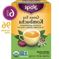 Yogi Tea - Green Tea Kombucha - Supplies Antioxidants - 6 Pa