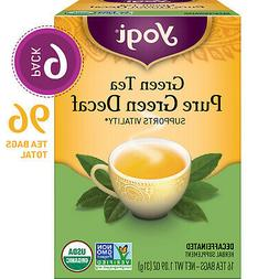 Yogi Tea - Green Tea Pure Green Decaf - Supports Vitality -