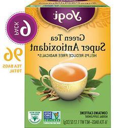 Yogi Tea - Green Tea Super Antioxidant - 6 Pack, 96 Tea Bags